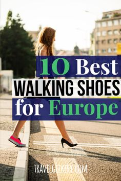 Check out a list of the best walking shoes for Europe, to make your European travel comfortable while making you fit in with the locals. These suggestions for travel shoes for Europe are cute and comfy, fashionable, yet your feet won't hurt. Wear the Travel Wear, Travel Outfit Summer, Travel Style, Travel Outfits, Travel Attire, Travel Fashion, Best Walking Shoes, Best Running Shoes, Travel Shoes Women