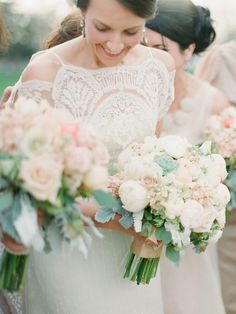 flowers are gorgeous - top of the dress is unique and delicate | LOVE!