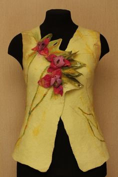 A Study in Yellow / Felted Clothing / Vest by LybaV on Etsy, $200.00