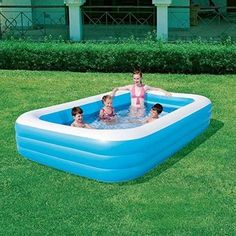 Bestway Swimming Pool Family Inflatable Rectangular Above Ground Vinyl Outdoor for sale online Above Ground Swimming Pools, Swimming Pools Backyard, Water Play For Kids, Kids Fun, Baby Pool, Kids Playing, Garden Kids, Summer Garden, Swimming Pools