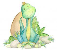 Eid Stickers, Dinosaur Nursery, Baby Painting, Cute Dinosaur, Baby Design, Nursery Art, Cute Drawings, Baby On The Way, Illustration