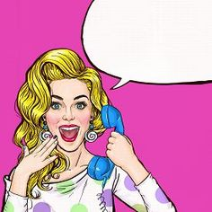 pic of pop art - Surprised young sexy woman shouting - JPG