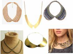 TRENDING: Collar Necklaces http://portender.com/2012/10/17/trending-collar-necklaces/