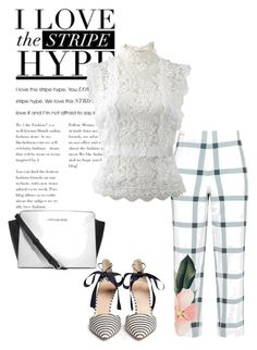 """Stripe"" by masayuki4499 ❤ liked on Polyvore featuring Ted Baker, Oscar de la Renta, J.Crew and Michael Kors"