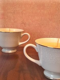 Rosewood Vanilla Teacup Set OOAK comforting by aromacandles, $17.50