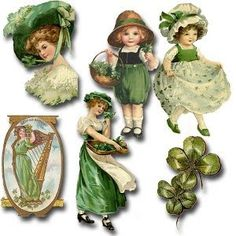 Crafty Chick's Retro Fantasy: Vintage St. Paddy's Day Share St Patricks Day Cards, Happy St Patricks Day, Saint Patricks, St Patrick's Day Crafts, St Patrick's Day Decorations, Erin Go Bragh, St Paddys Day, Luck Of The Irish, St Pattys