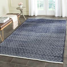 Safavieh Amherst Indoor Outdoor Navy Ivory Rug 4 X 6