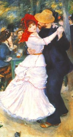 This has always been one of my favorite paintings, Dance at Bougival by Pierre Auguste Renoir(1883)