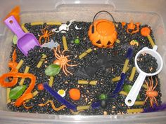 Counting Coconuts: October Sensory Tub - Halloween