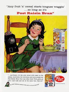 Post Raisin Bran - 1958