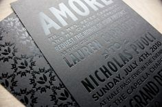 Foil stamping is also very trendy. This piece uses a color foil stamping technique. Metallics are a more traditional color choice for this type of printing. Be weary of foil stamping, though, as it has a larger, more negative effect on the environment than traditional printing methods.
