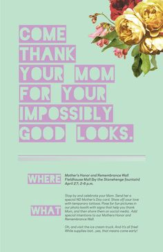 Poster Design for Student Drive | 2016 Mother's Day Event | #print #notredame