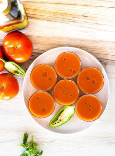 Chilled Spicy Tomato Soup | DIVERSE DINNERSA chilled soup is perfect for summer parties Chilled Soup, Summer Dishes, Tasting Menu, Tasty Bites, Great Appetizers, Vegetable Stock, Tomato Soup, Summer Parties, Food Print