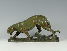 Art Deco bronze panther by Rochard.