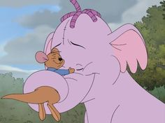 Winnie the Pooh and the Heffalump: This scene is so cute, even though I'm not a big fan of WTB anymore... Lumpy and Roo- who doesn't coo? :D
