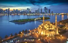 SMILE, YOU'RE IN SHARJAH - Click here to follow me on Facebook and here to follow my Instagram account. Seattle Skyline, New York Skyline, Tilt Shift Photography, Camera Movements, Sharjah, United Arab Emirates, Scene, Explore, City