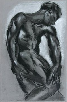 Rodin charcoal drawing