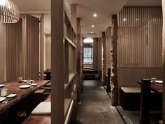 Restaurant Lighting, Modern Restaurant, Restaurant Interior Design, Chinese Restaurant, Cafe Restaurant, Korean Cafe, Study Interior Design, Classic House Design, Pub Design
