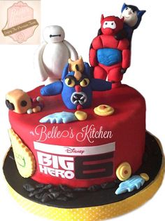 Big Hero 6 Cake By Belle's Kitchen, To Order Contact Our WA: 081294055786, Line: Bellekitchen Also Be Sure To Follow Our Instagram @belle_kitchen