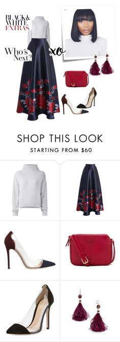"""""""Sweater Extra Extra"""" by joycecomfort ❤ liked on Polyvore featuring Le Kasha, Chicwish, Gianvito Rossi, Post-It, Tory Burch, xO Design and Kate Spade"""