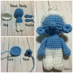 La La Lalalala~ What's white and blue and lives in mushroom-shaped houses in the forest??Linda requested a custom order of a Brainy smurf and i thought it look