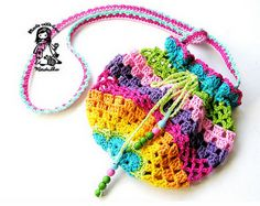 rainbow crochet bag pattern - click on the picture for the pdf instructions