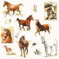 20 Servetten Paardenwereld