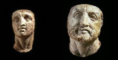 Kings of the ancient Greek kingdom of #Macedonia - Portrait heads of Alexander the Great and Philip II