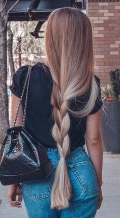 Beautiful Long Hair in 2020 Beautiful Long Hair, Gorgeous Hair, Super Long Hair, Really Long Hair, Aesthetic Hair, Hair Looks, Pretty Hairstyles, Hair Inspiration, Blonde Hair
