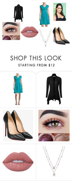 """""""Arianna James- Paint it Black"""" by pepper2good4u on Polyvore featuring Armani Collezioni, Christian Louboutin and Lime Crime"""