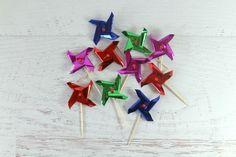 Metallic Windmill Toppers Pinwheels, Windmill, Metallic, Party Things, Pop, Parties, Party Ideas, Fiestas, Popular