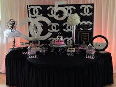 Chanel Baby Shower Baby Shower Party Ideas | Photo 1 of 10 | Catch My Party