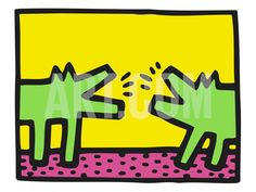 Pop Shop (Dogs) Print by Keith Haring at Art.com
