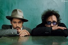 Johnny Depp and Tim Burton- can you imagine the conversations these two guys must have!?!  WAY out there...