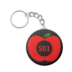 Add Your House Number/ Monogram Red Apple Keychain - monogram gifts unique custom diy personalize