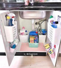 Ideas Bath Room Sink Ideas Organizing Kitchen Organization For 2019 Kitchen Organization Pantry, Diy Kitchen Storage, Bathroom Organisation, Home Organization Hacks, Home Decor Kitchen, Closet Organization, Home Kitchens, Organizing, Kitchen Stuff