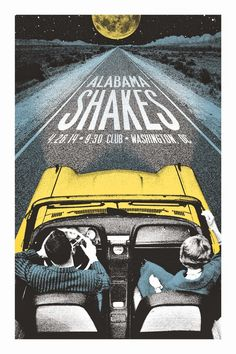 Alabama Shakes Washington DC Posters by Lastleaf Printing  -space  -form  -value  -color  -hierarchy  -emphasis  -rhythm
