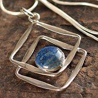 Lapis lazuli pendant necklace, 'Modern Inca' by NOVICA
