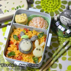 Karenwee's Bento Diary: Bento2015#Feb24~Totoro & Chibi Mashed Potato