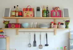 Colourful kitchen shelf | Easy way to organise | Found on Flickr | Made By Lova | VÄRDE | live from IKEA FAMILY