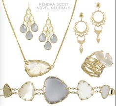 in love w/ these Kendra Scott pieces! love the neutral colors