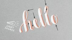 "How to Write Calligraphic 3D Letters   Printable ""Cheat Sheets"" 