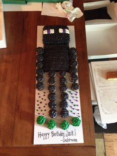 Coolest Enderman Cake -Minecraft