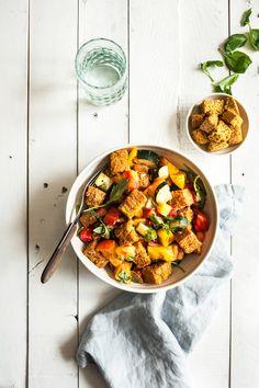 Vegan Cornbread Panzanella | The Full Helping