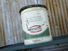 Grandpa's old Texaco can...memories of farm