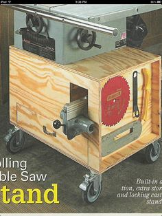 Building A Table Saw Stand Woodworking Talk Woodworkers Forum
