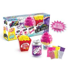 "So Slime Craft Kits DIY Slime'licious Scented 3 Pack - Treats Toys "" Games Slime Craft, Diy Slime, Craft Kits, Diy Kits, Slime Kit, Crafts For Kids, Arts And Crafts, Grape Soda, Strawberry Ice Cream"