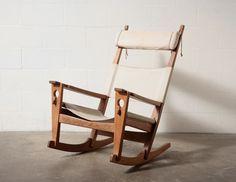"hans wegner ""key hole"" rocking chair"