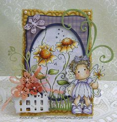 Inky Angel: Tilda with Heart Flowers - 3rd GDT Card for MDUC