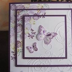 michele1 | docrafts.com love the idea of embossing & stamping on each layer | Handmade Birthday ...